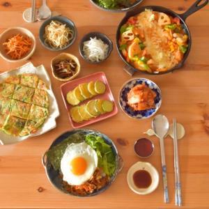 韓国ごはんのお昼ごはん。