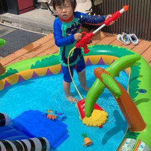 夏の水遊び