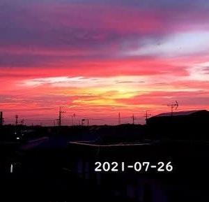 台風の前の・・夕日