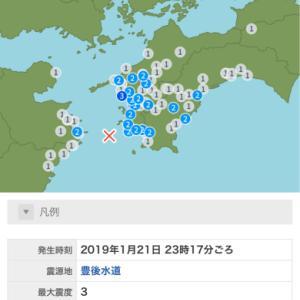豊後水道の地震