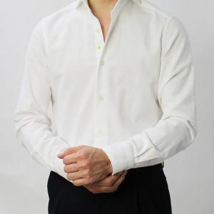 GIANNETTO ( ジャンネット ) / コットン フランネル カッタウェイカラー シャツ【ホワイト】