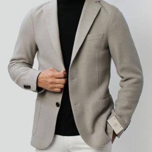 eleventy ( イレブンティ ) / 979JA3001-JAC24016 / ウールフラノ ジャージー 2B シングル ジャケット【グレージュ】