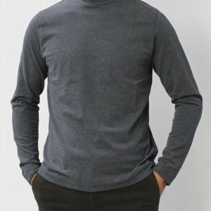 CIRCOLO 1901 ( チルコロ 1901 ) / コットン 天竺ニット モックネック ロングスリーブ Tシャツ【ホワイト/グレー/ネイビー/ブラック】