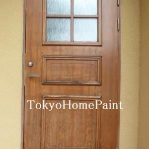 スウェーデンドアの再塗装 オイル仕上げ