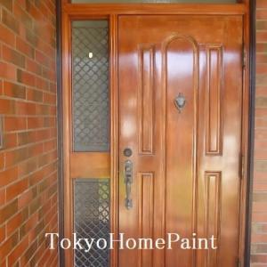 木製玄関ドア塗装 色ムラが気に入らない・・
