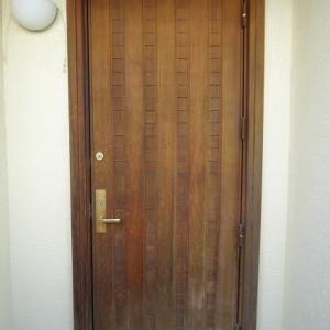 木製玄関ドア再塗装