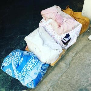まちかどふろしき♪インドの風呂敷包み♪洗濯物の置き配