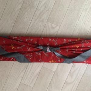 長い物も包めます♪六本木高校公開講座ご参加者様の着物ハンガー包み