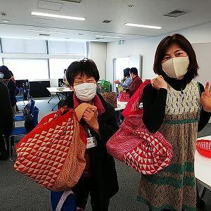 横浜市港南区役所風呂敷講座「ふふふふろしき~日本の包む布で出来ること」ふろしきバッグ編♪