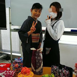 ハリウッド美容専門学校「日本文化リテラシー」授業1回目♪六本木高校の卒業生が声をかけてくれました