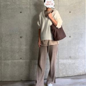 ドゥーズィエムのニットパンツにゆるっとニット★やっとやっとのオファー成立!!!