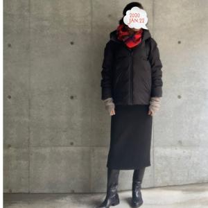 サルトルロングブーツにタイトスカートであったか★コロナウィルスも怖いから体調管理しなくては!