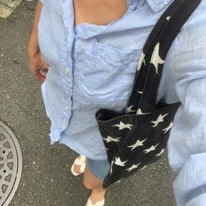 リネンシャツとショートパンツです★秋準備はカラーからとわたナギ風イヤーカフ!