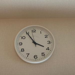 我が家にも時計がやってきた~やっぱり無印だね!