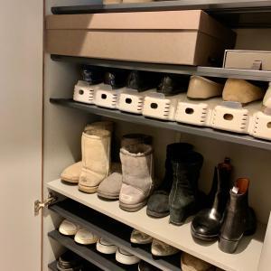 本日快晴~靴箱の整理終了!!!見渡せる収納が実に良い。