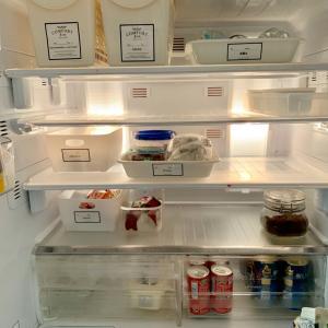 冷蔵庫収納BOXのラベリング。今週の作り置きとダンナに強制したこと。