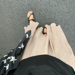 プチプラマキシスカートとUniqloUのTシャツでご近所コーデ★おいしい焼肉に大満足!!!