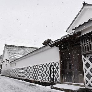 1月25日(木)萩は雪...。
