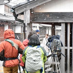 2月4日(日)立春寒波...萩も雪...。