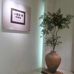 大丸京都店篠原希陶展終了しました。