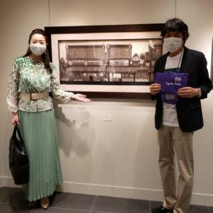 美祢市ふるさと交流大使 久保修先生の切り絵展示