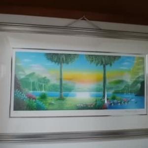 玄関の絵画