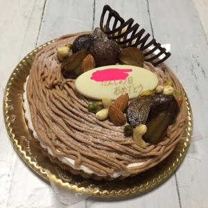 遅くなった長男の誕生日ケーキ