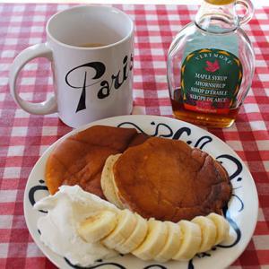 パンケーキ食べた後は散歩♪週末の朝