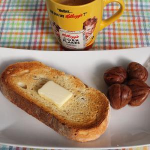 栗の渋皮煮&バタートースト