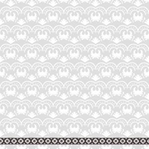 パターン×花ライン×オーナメントのライン