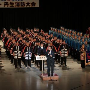 組合消防50周年記念鯖江・丹生消防大会をサンドーム福井で
