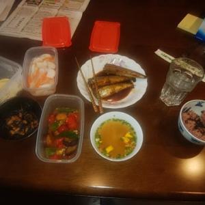 品数豊富な昼食