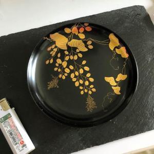 漆器蒔絵のお皿