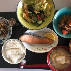 鮭と漬物ご飯