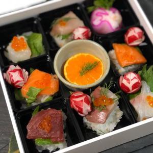 漬物で作るお花のお寿司