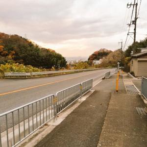 清滝峠への道