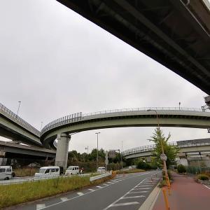 東大阪ジャンクションから東大阪市役所を経由してサイクルショップKOGさんまで