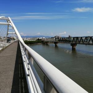 夏の淀川を楽しんでいたらパンクでヘコむ