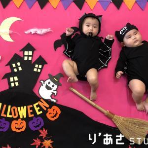 Happy Halloween☆ベビマとおねんねアートで楽しいハロウィン♡