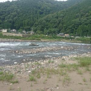 8月4日長良川郡上【川で捻挫】