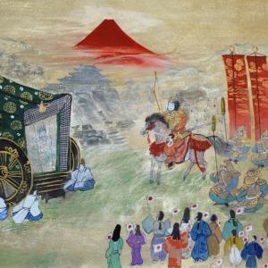 お釈迦さまは「久遠実成の仏」で、遠泳に存在する仏という意味です。雲の隙間から太陽のように光を当て