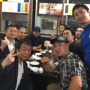 【チャンピオンナイト】二次会は渡嘉敷勝男さんとコウジ有澤さんのお店へ^ ^