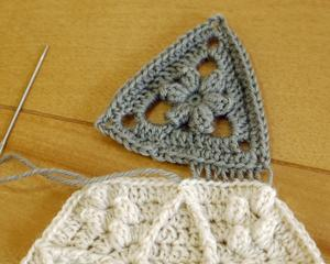 多角形かぎ針編みモチーフ(14) 完成