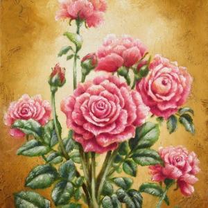 薔薇の油絵