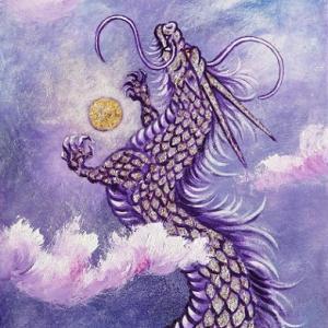 魂の癒しに。。。龍の油絵