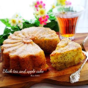 久しぶりに紅茶とりんごのケーキでおやつ♡