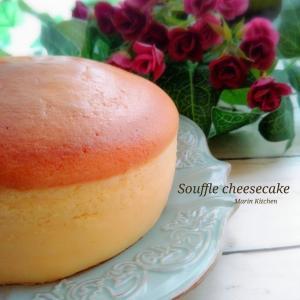 スフレチーズケーキでおめでとう♡