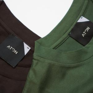 【ATON】あの定番Tシャツの新色登場とサイズ欠け分再入荷。