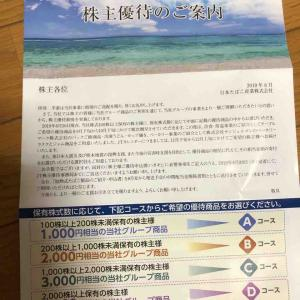 JT(日本たばこ産業)から株主優待の案内到着