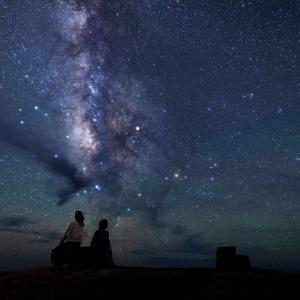 八丈島の夏の夜空